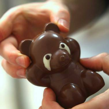 Assemblage panda en chocolat Pâques