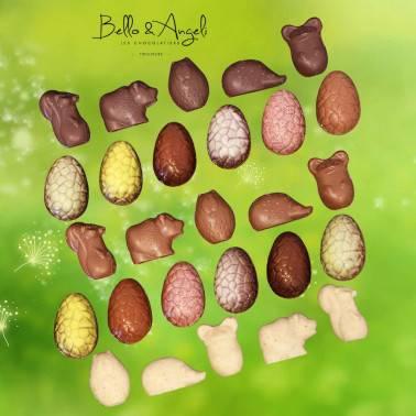 Assortiment Chocolat Paques Bello Angeli Chocolatier Toulouse
