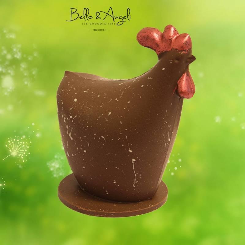 Poule chocolat au lait Paques