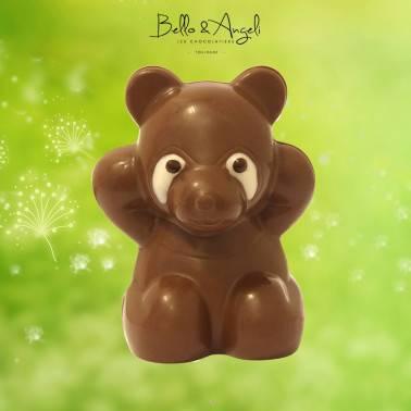 Petit panda en chocolat au lait