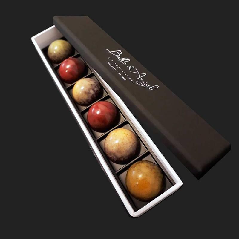 Ecrin de chocolats Bijoux - 6 pcs