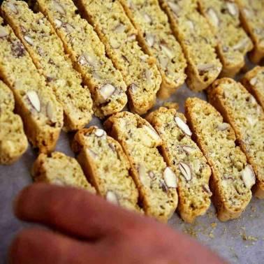 Biscuits croquants aux Amandes - Cantucci