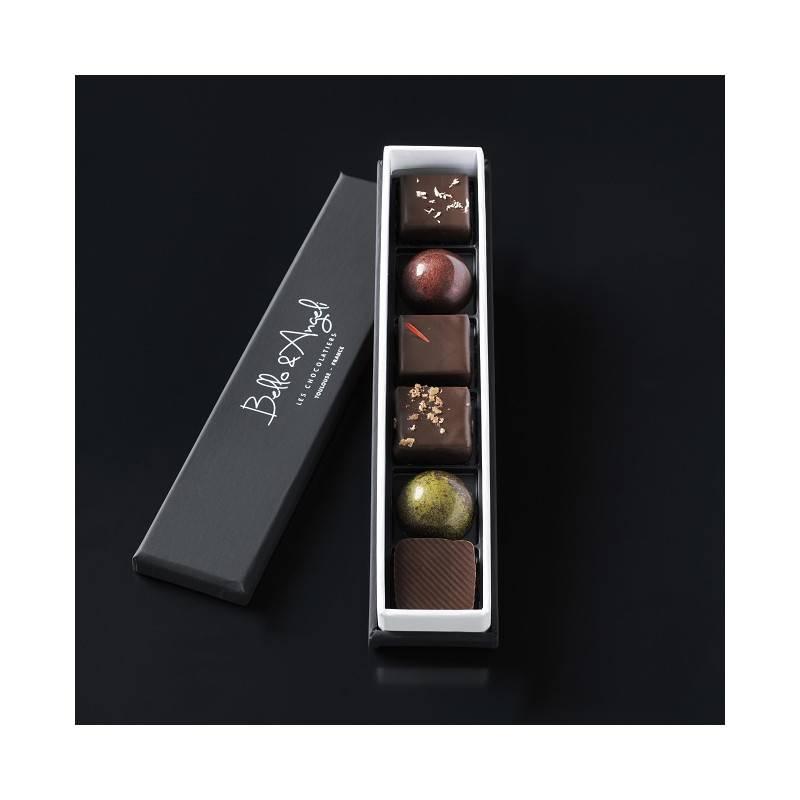 Ecrin de 6 chocolats Bello & Angeli
