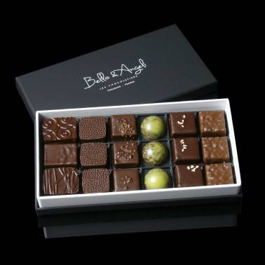 Coffret Dégustation 40 chocolats artisanaux Bello & Angeli Chocolatier Toulouse