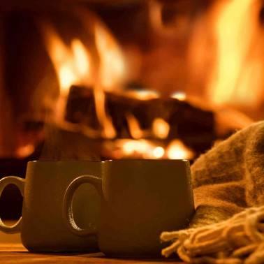 Chocolat chaud au coin du feu